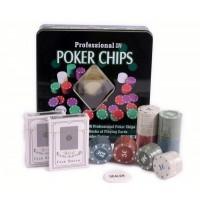 Set poker texas 100 jetoane + 2 pachete carti, 20 x 20 x 5 cm