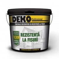 Tencuiala decorativa, cu silicon - silicat si fibre, Deko Professional, aspect striat, punch R15, interior / exterior, 25 kg