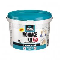 Adeziv pentru placi si profile decorative din polistiren, interior, Bison Montage Kit, alb, 4 kg