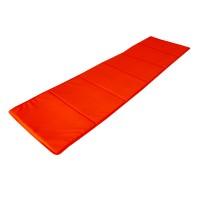 Saltea pliabila Bedora, pentru plaja, textil, portocaliu, 50 x 175 cm
