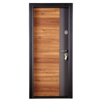 Usa interior metalica Megadoor Prestige 1 lux 260, nuc natur, stanga, 200 x 88 cm