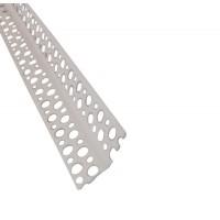 Profil de colt, din PVC, cu muchie dreapta si unghi variabil, 21 x 21 x 2500 mm