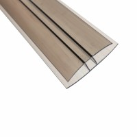 Profil policarbonat H, bronz, 8 x 6000 mm