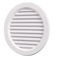 Rama aerisire rotunda, TE-MA, pentru ventilatia incaperilor, alba, D 110 mm