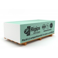 Placa gips carton tip H protectie umiditate Rigips RBI 12.5 x 1200 x 2000 mm