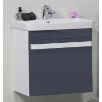 Masca baie pentru lavoar, Arthema Revo 60, cu sertare, alb / antracit, montaj suspendat, 56 x 43.8 x 55 cm