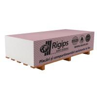 Placa gips carton tip F protectie foc Rigips RF 15 x 1200 x 2600 mm