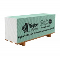 Placa gips carton mini tip H protectie umiditate Rigips RBI 12.5 x 600 x 2000 mm