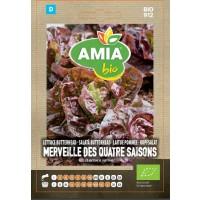 Seminte legume bio Amia, salata butterhead Merveille des quatre saisons