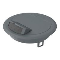 Capac rabatabil iesire cabluri 7405082, 140 x 40 mm, gri