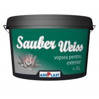 Vopsea lavabila exterior, Adeplast Sauber Weiss, alba, 3 L