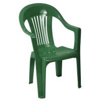 Scaun pentru gradina, Sole, plastic, verde