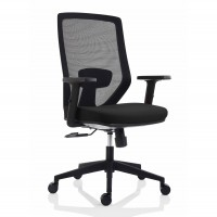 Scaun birou ergonomic Electra, rotativ, textil, negru
