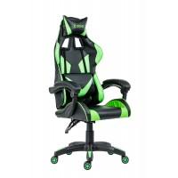 Scaun birou gaming Xzone, rotativ, poliuretan + PVC, negru