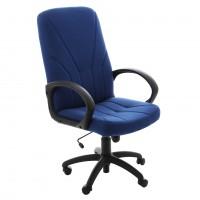 Scaun birou directorial Leganza, rotativ, stofa C14, albastru