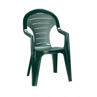 Scaun pentru gradina, Curver Bonaire, plastic, verde