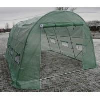 Solariu pentru gradina, structura otel + folie polietilena cu insertie fibra de sticla, 4 x 3 x 2 m