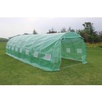 Solariu pentru gradina, structura otel + folie polietilena cu insertie fibra de sticla, 8 x 3 x 2 m