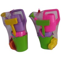 Jucarii pentru nisip Alma, cu stropitoare, din plastic, set 5 bucati (1 buc = 1 set)