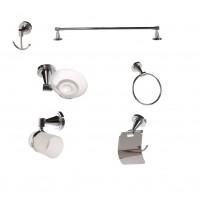 Set accesorii pentru baie, Rondo SWB27500, cromat, 6 piese