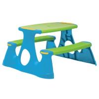 Set masa + 2 bancute picnic copii, pentru gradina, plastic, 90 x 88 x 48.5 cm