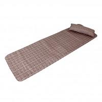 Set sezlong cu pernuta Bedora, textil, maro, 60 x 190 cm