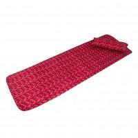 Set sezlong cu pernuta Bedora, textil, rosu, 60 x 190 cm