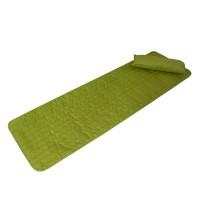 Set sezlong cu pernuta Bedora, textil, verde, 60 x 190 cm
