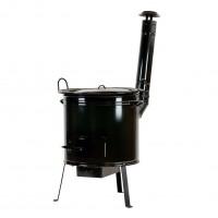 Soba cu ceaun de 60 litri + capac, negru