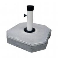 Suport umbrela, beton, forma patrata, 40 x 40 cm, D 50/60 mm