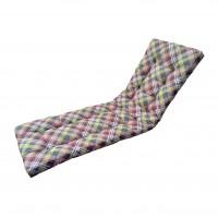 Perna pentru sezlong Soft, bumbac + PES, cu umplutura vata volum, 190 x 60 x 6 cm