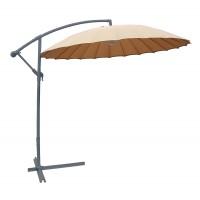 Umbrela soare banana pentru terasa SPAU-024F rotunda structura metal crem D 300 cm
