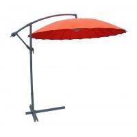 Umbrela soare banana pentru terasa SPAU-024F rotunda structura metal portocaliu D 300 cm