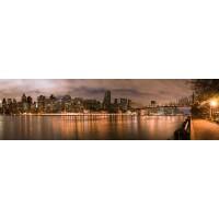 Panou decorativ bucatarie Splashback, compozit, luminescent, SPB 002, urban, 2600 x 750 x 3 mm