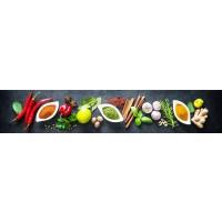 Panou decorativ bucatarie Splashback, compozit, luminescent, SPB 063, condimente, 750 x 600 x 3 mm