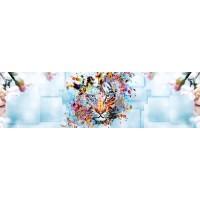Panou decorativ bucatarie Splashback, compozit, luminescent, SPB 032, tigru, 2000 x 750 x 3 mm