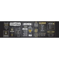 Panou decorativ bucatarie Splashback, compozit, luminescent, SPB 033, bar, 2000 x 600 x 3 mm