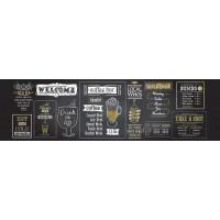 Panou decorativ bucatarie Splashback, compozit, luminescent, SPB 033, bar, 2600 x 600 x 3 mm