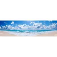 Panou decorativ bucatarie Splashback, compozit, luminescent, SPB 041, plaja, 2000 x 750 x 3 mm