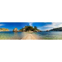 Panou decorativ bucatarie Splashback, compozit, luminescent, SPB 043, plaja, 2000 x 600 x 3 mm
