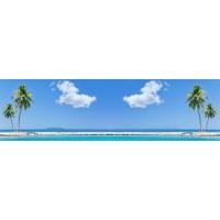 Panou decorativ bucatarie Splashback, compozit, luminescent, SPB 051, palmier, 1200 x 600 x 3 mm