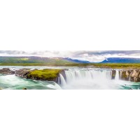 Panou decorativ bucatarie Splashback, compozit, luminescent, SPB 053, cascada, 2000 x 600 x 3 mm