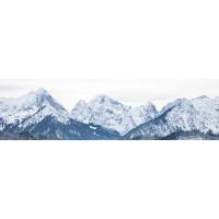 Panou decorativ bucatarie Splashback, compozit, luminescent, SPB 055, munti iarna, 2000 x 600 x 3 mm