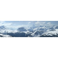 Panou decorativ bucatarie Splashback, compozit, luminescent, SPB 060, munti iarna, 3000 x 600 x 3 mm