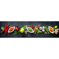 Panou decorativ bucatarie Splashback, compozit, luminescent, SPB 063, condimente, 2000 x 750 x 3 mm