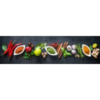 Panou decorativ bucatarie Splashback, compozit, luminescent, SPB 063, condimente, 2000 x 650 x 3 mm