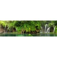 Panou decorativ bucatarie Splashback, compozit, luminescent, SPB 073, cascada tropicala, 2000 x 600 x 3 mm