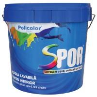 Vopsea lavabila interior, Spor, alba, 2.5 L