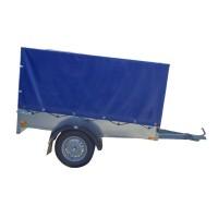 Remorca auto, monoax, Repo, R13, 750 kg, 202 x 110 x 30 cm + prelata si suport