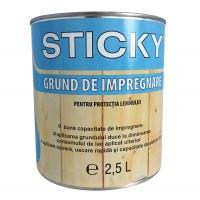 Grund pentru lemn, Sticky, incolor, 2.5 L